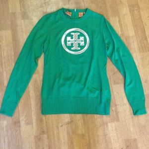 Tory Burch Kelly Green Wool Sweater